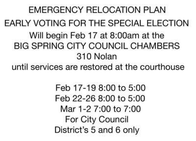 Early voting relocation info