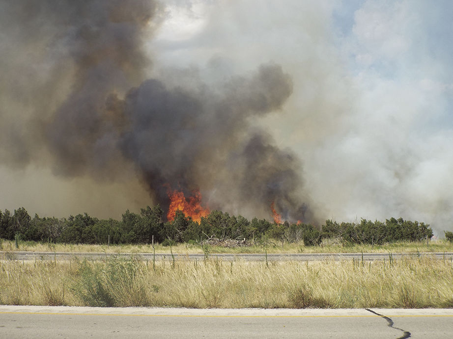 UPDATE: Brush fire south of Big Spring Tuesday afternoon contained