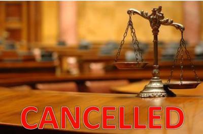 jury cancelled