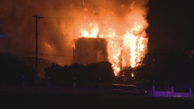 Historic Dallas Hotel Burning