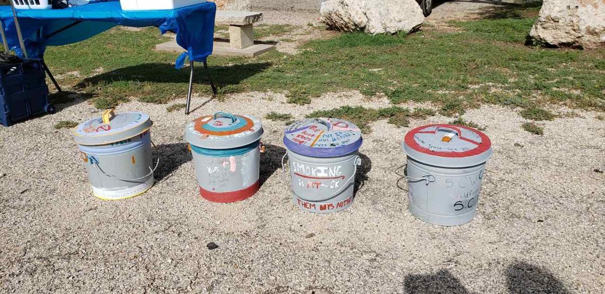 New receptacles at park