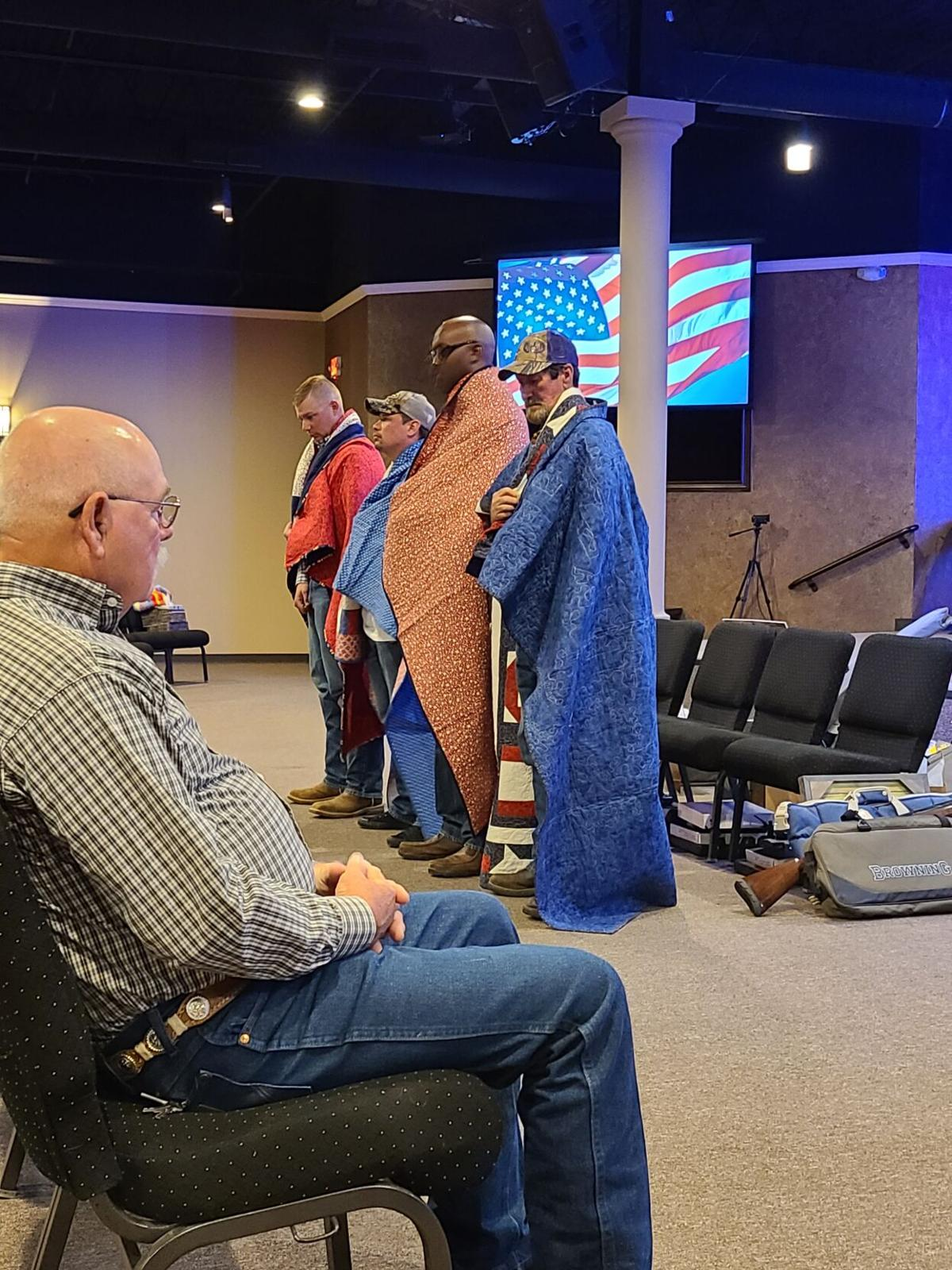 Quilts of Valor presented