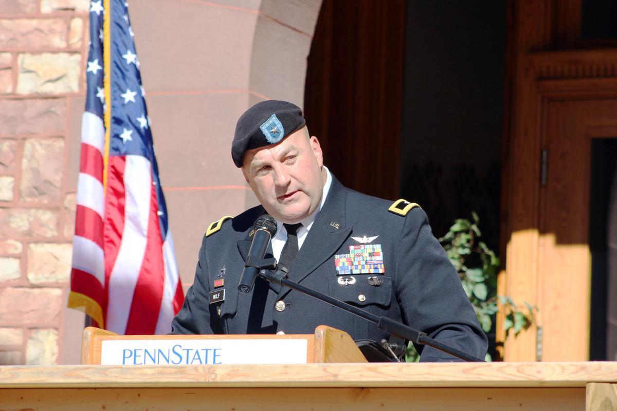 Brig. Gen. Wolf speaking