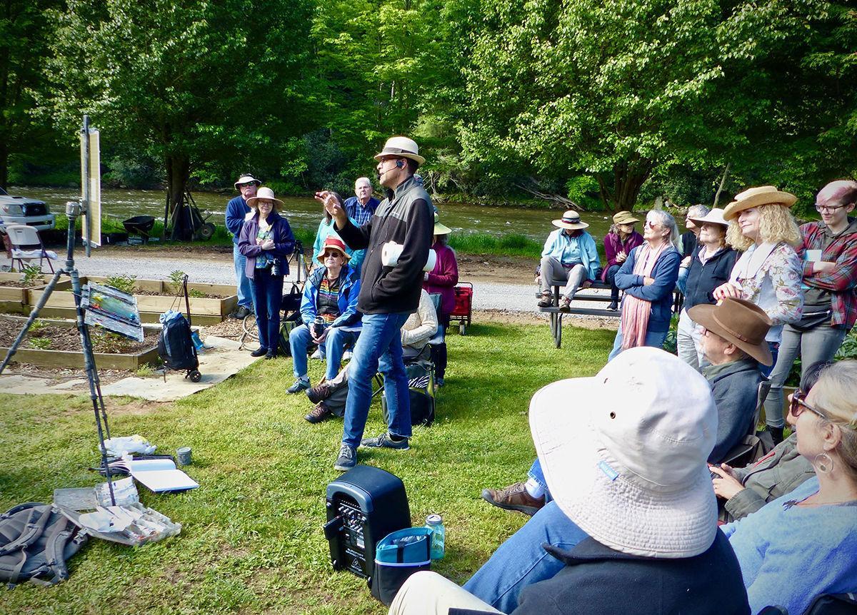 Richard Oversmith demo at Wildcat Ridge Farm in Clyde