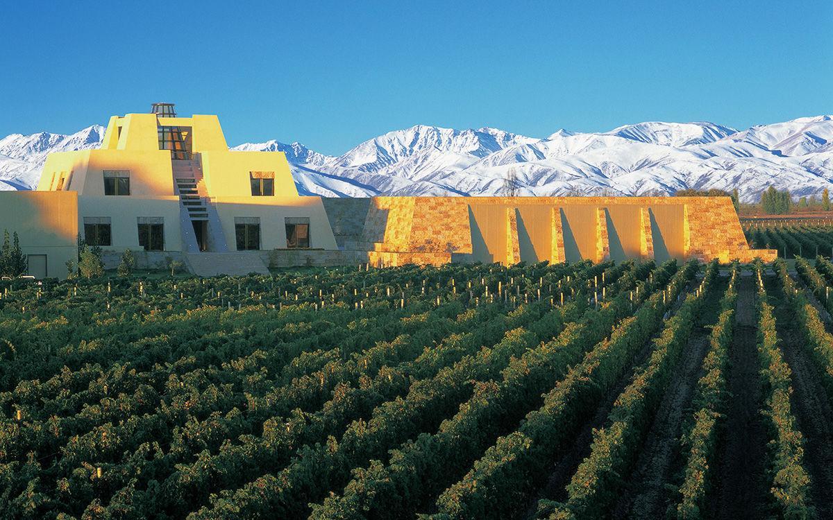 Catena Zapata Winery cellar on Chef Ricardo Fernandez' Argentina Culinary & Wine Tour