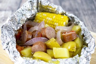Sausage foil packet