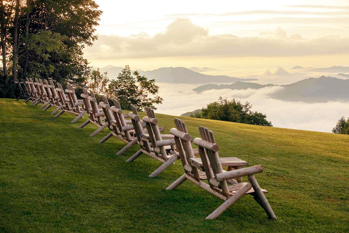 Adirondack chairs at Gooseberry Knob picnic The Swag