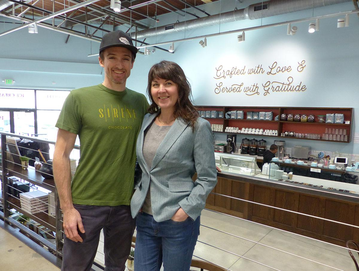 French Broad Chocolate founders and owners Dan and Jael Rattigan