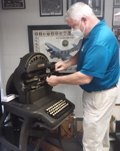Veterans History Museum dog tag machine