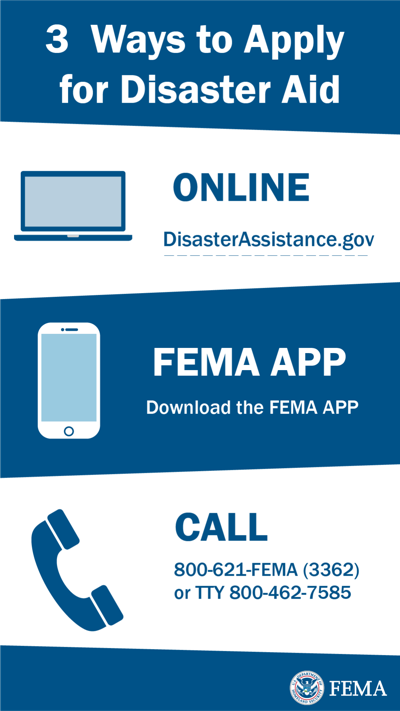 apply for flood assistance graphic