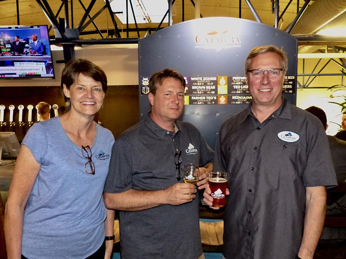 Catawba Brewing owners Jetta, Scott and Billy Pyatt