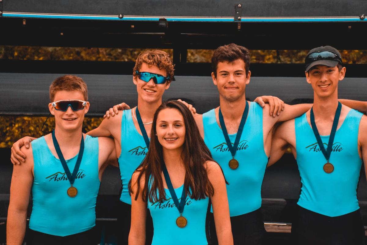 Asheville Youth Rowing team members