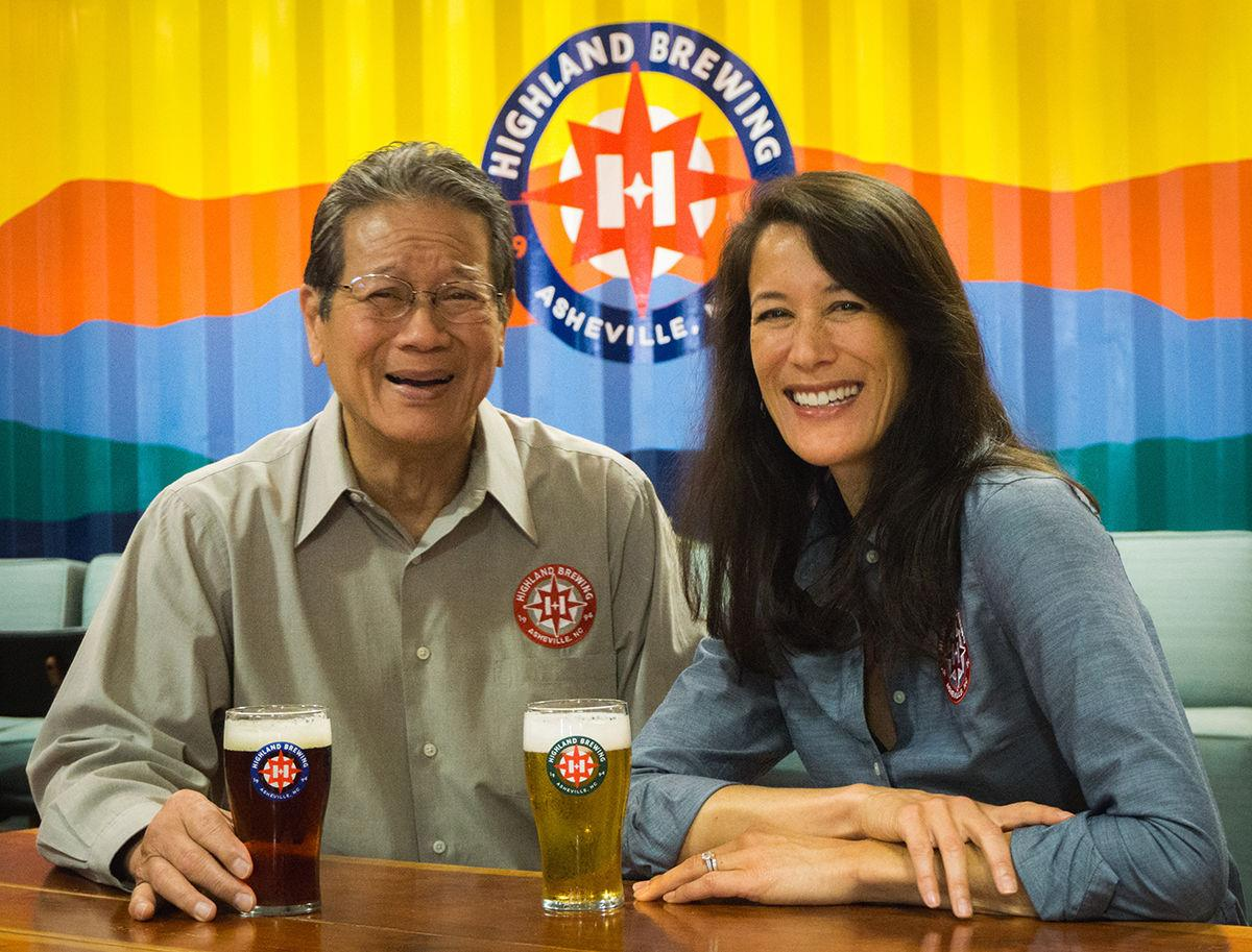 Highland Brewing founder, Oscar Wong, and president and family-owner, Leah Wong Ashburn.