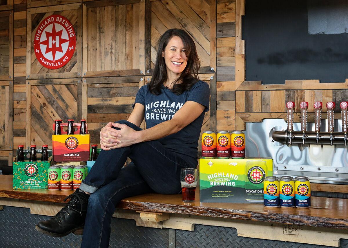Highland Brewing Leah Wong Ashburn with new logo
