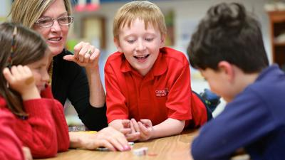Key School Second-graders Learn Multisensory Math Through Games