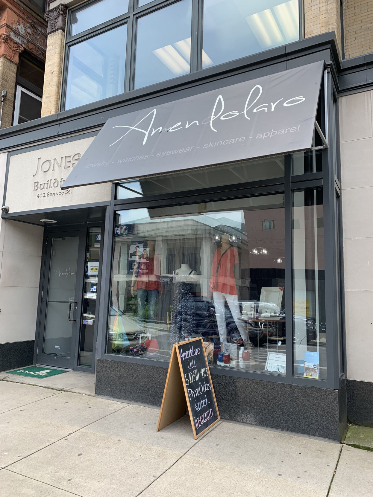 Amendolaro clothing and gift shop on Spruce Street in Scranton o