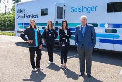 The Geisinger mobile dental services vehicle