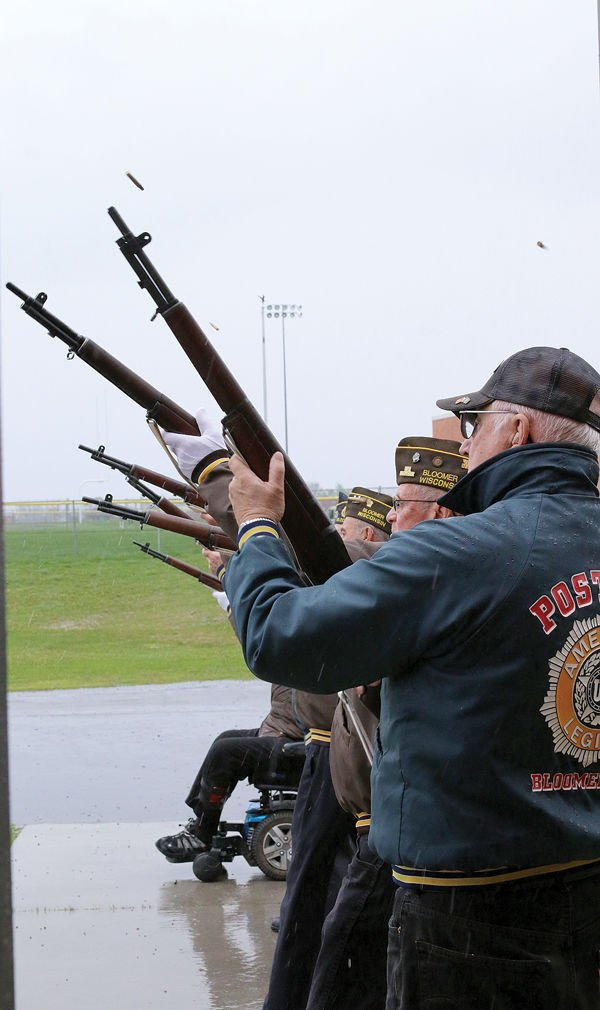 Firing Squad Fires Salute On Memorial Day