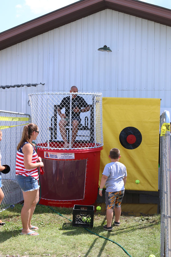 Dunk a Cop at the Bloomer Fair