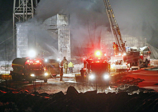 Ladysmith Concrete Plant Called Total Loss In Fire