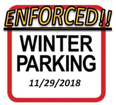 Enforcement Begins On Witner Parking Restrictions