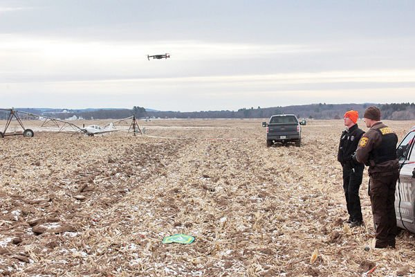 Plane Crash-Lands With Parachute In Cornfield
