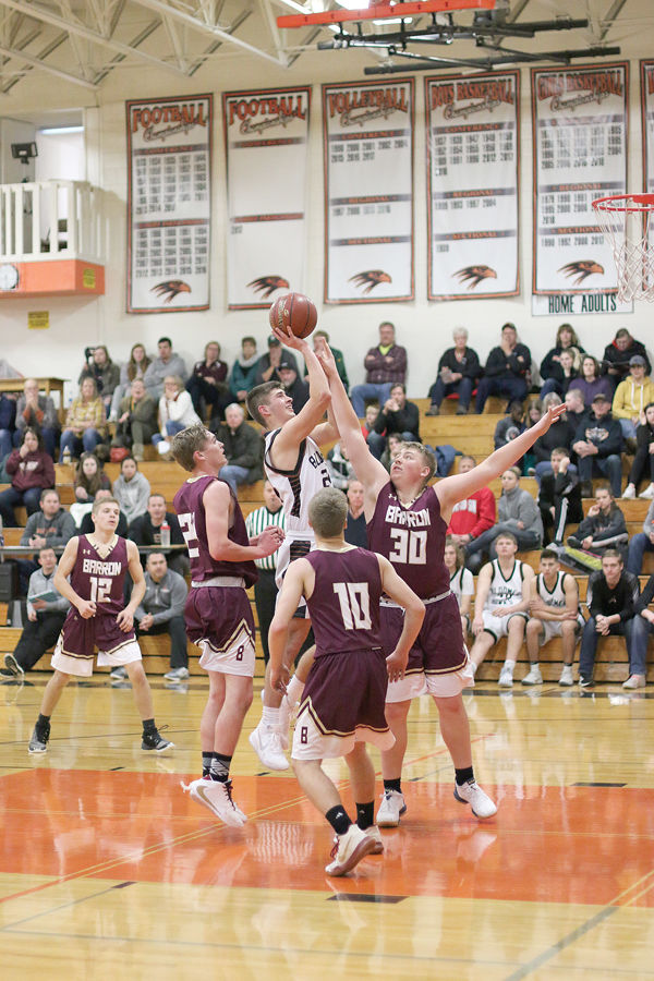 Blackhawk Boys Basketball Beats Barron Bears 50-28