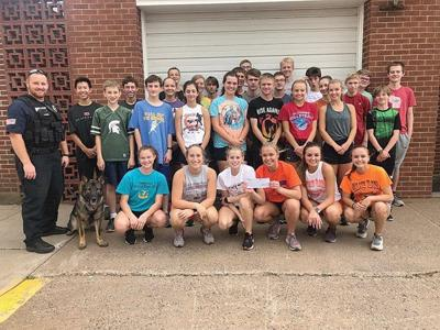 Bloomer High School Cross Country Team Donates To K9 Program