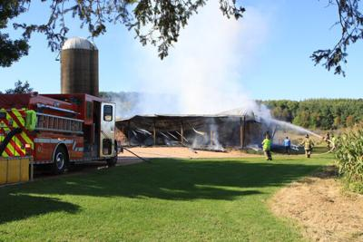 The Cameron Fire Department at the scene of the Wednesday, Sept. 15, Town of Stanley fire
