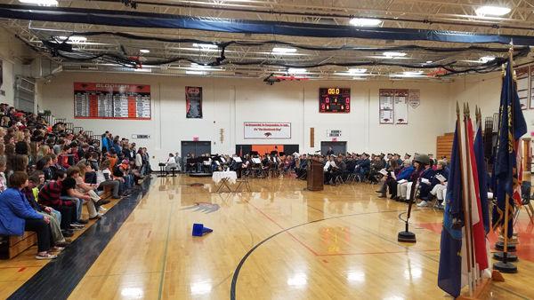 Veterans Day Ceremonies Held At Bloomer Schools