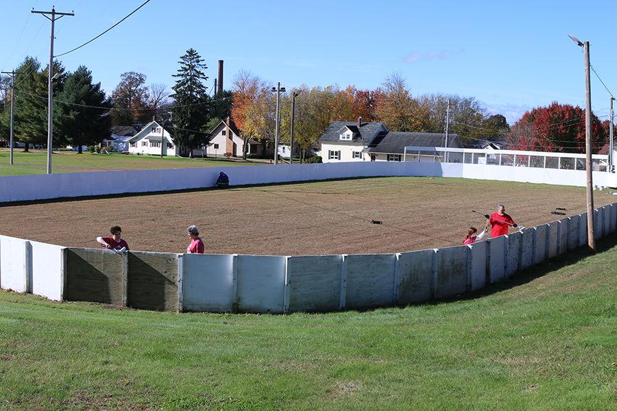SFB Employees Paint Hockey Rink