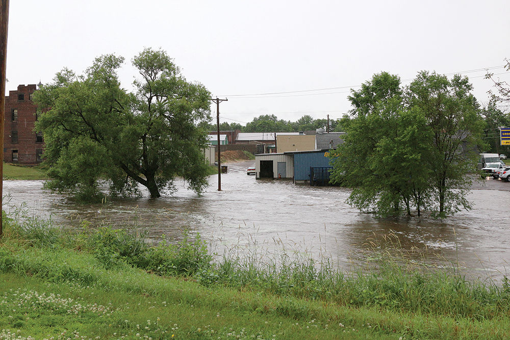 Heavy Rains Cause Flooding June 29 Behind Bloomer Tire