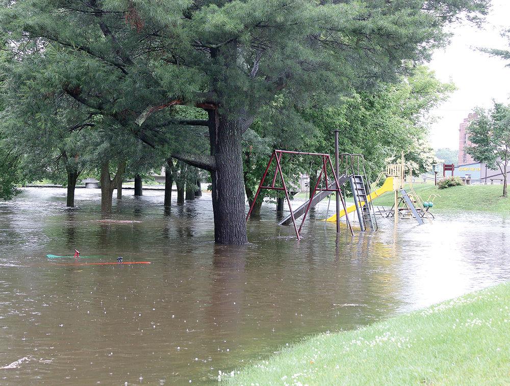 Flooding at Willis Park June 29, 2020