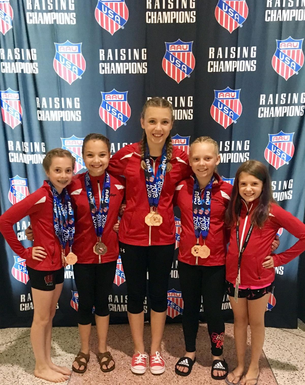 Phoenix Gymnastics Competes  At National AAU Meet In Tampa