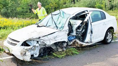 Near-head-on crash
