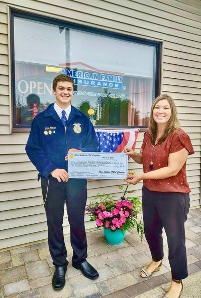 New Auburn FFA Donates $505.70 To The American Heart Association