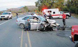 Three injured in crash by park
