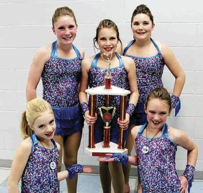 Young dancers and GU Gold sparkle