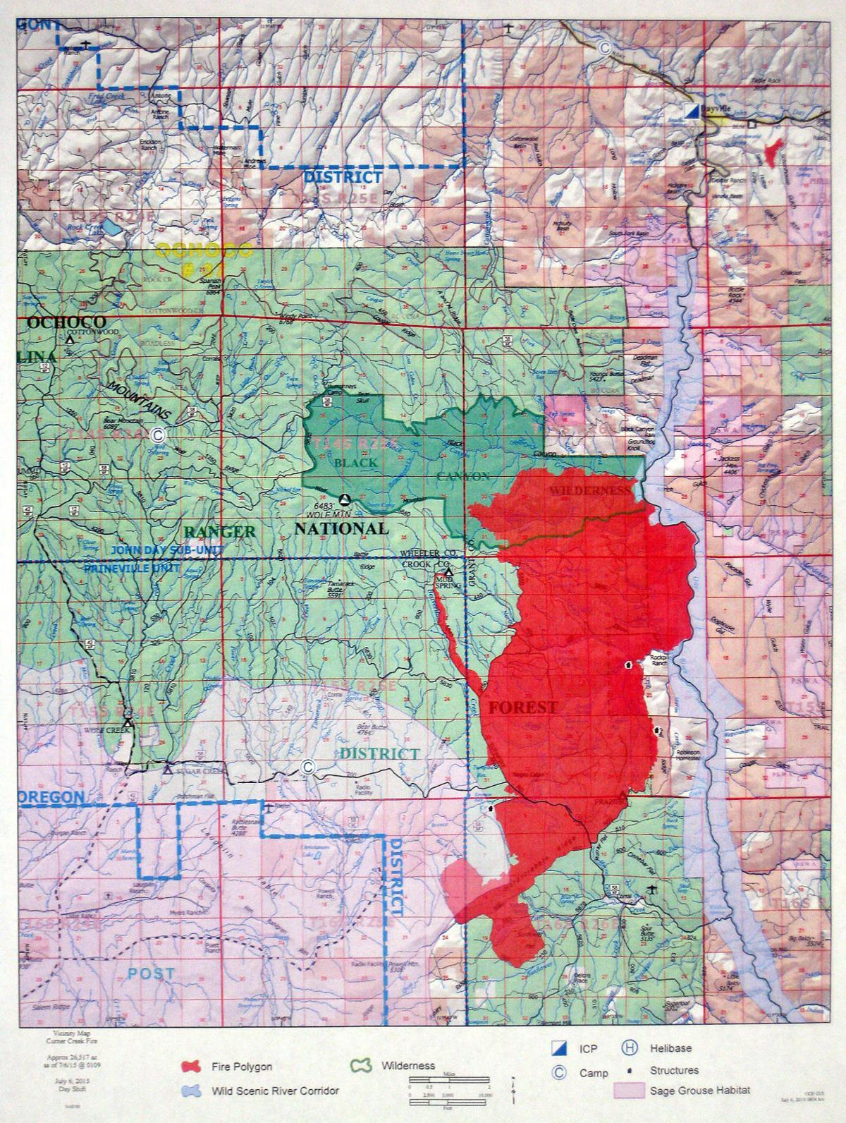 West Fork, Corner Creek fires still have life