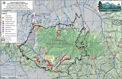 Canyon Creek Complex Fire Area Closure Reduced News