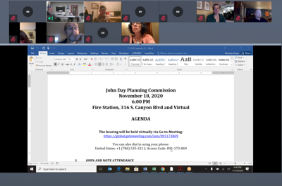 The John Day Planning Commission
