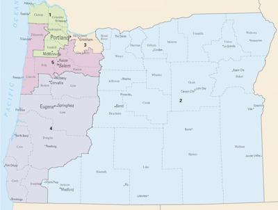 Oregon congressional districts