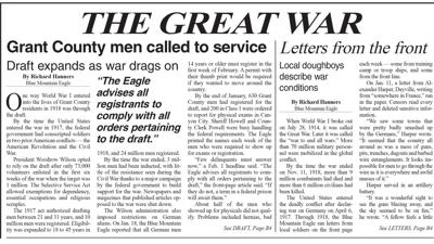 HISTORY: 1918 — Grant County men called to the Great War