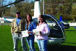 'Copters drop in with good tidings for 2 county students