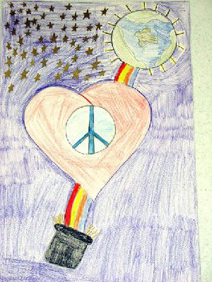 Posters make colorful pitch for peace