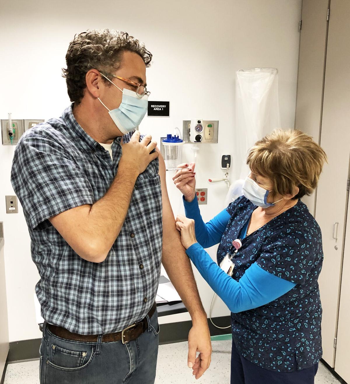 Dr. Zach Bailey and nurse Jenelle Moulton