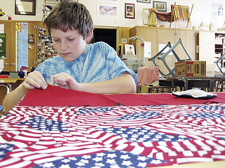 PC students sew pillowcases for young patients