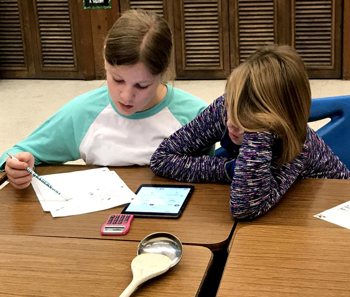 Fifth-graders 'gobble up' math problem