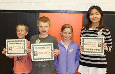 Dayville students of the month — February