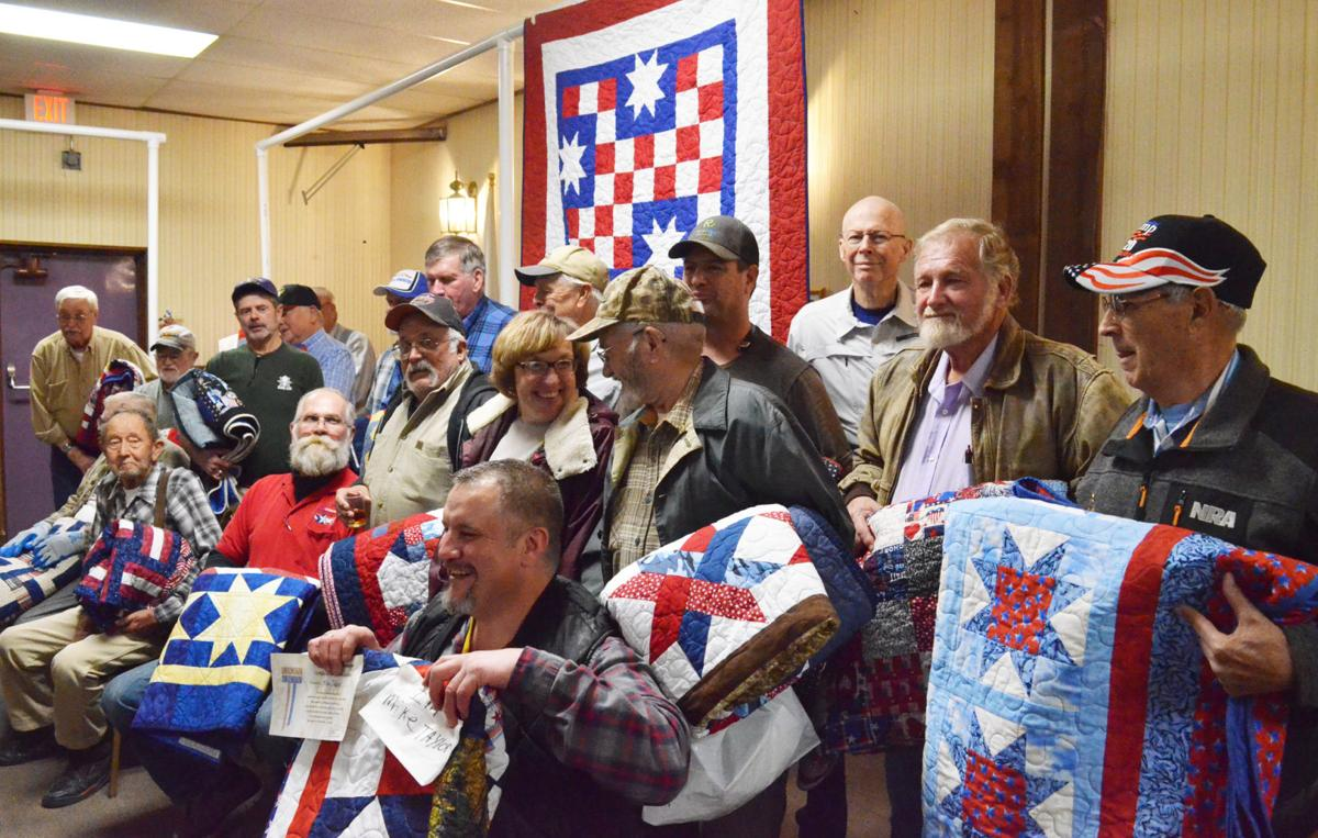 Veterans and their quilts